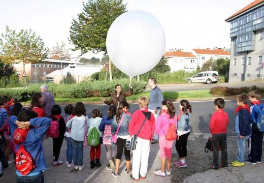 Outros 100 alumnos do colexio Ventín de Santiago coñeceron o funcionamento de Meteogalicia
