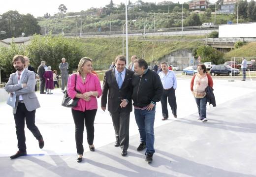 Carlos Negreira destaca o investimento de 2 millóns de euros en Palavea durante este mandato para a súa remodelación e para equiparalo co resto da cidade