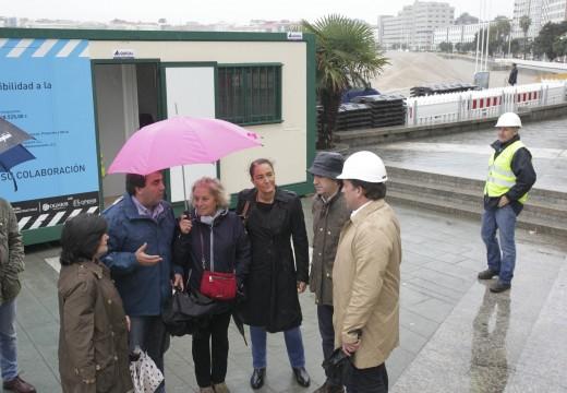 O Concello inicia a 5ª fase do paseo marítimo, unhas obras que teñen como obxectivo dar máis protagonismo ao mar e favorecer a accesibilidade á praia de Riazor