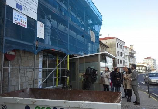 A Xunta destina unha achega de máis de 45.000 euros para a reforma das fachadas da Praza de Abastos de Porto do Son
