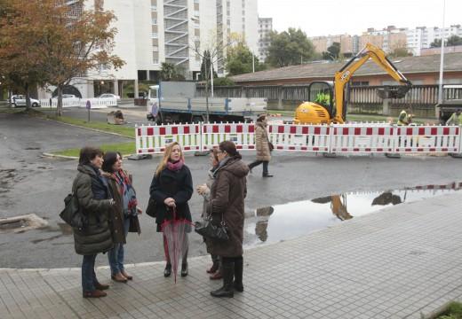 O Goberno local inicia a renovación dos aparcadoiros das torres Dos mariñeiros
