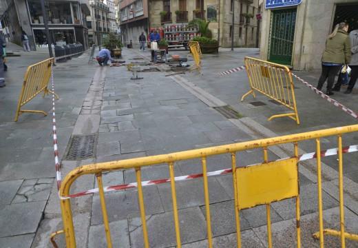 Adxudicada provisionalmente a reposición do pavimento das rúas peonís de Galicia e Santa Uxía e a Praza de Compostela