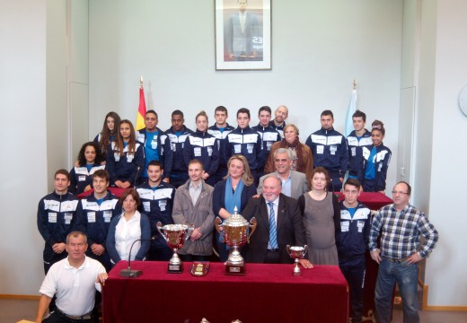 A Deputación da Coruña recibiu ao Club Halterofilia Coruña
