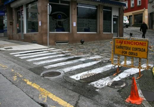 Arrancan as obras de arranxo da rúa da Igrexa