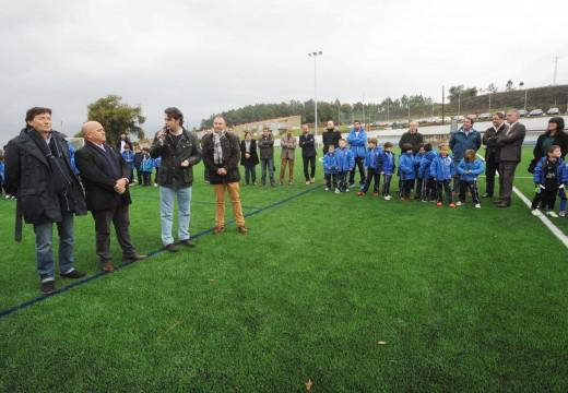 Festa de inauguración das obras de reforma realizadas no campo do fútbol do Monte