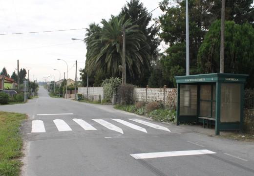 O Concello de Brión instala redutores de velocidade na parroquia de Bastavales