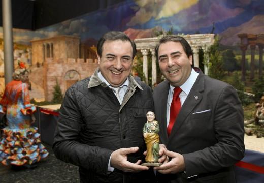 O alcalde da Coruña, Carlos Negreira, participou na inauguración do Belén Municipal