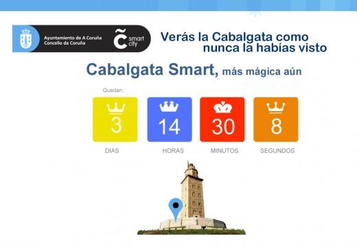 Coruña Smart City presenta a primeira páxina web para seguir en directo o percorrido da Cabalgata de Reis