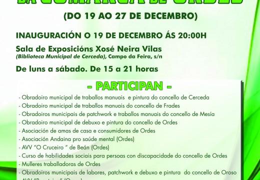 Cerceda acollerá dende o próximo 19 de decembro a VIII Mostra de Obradoiros Culturais da Comarca de Ordes