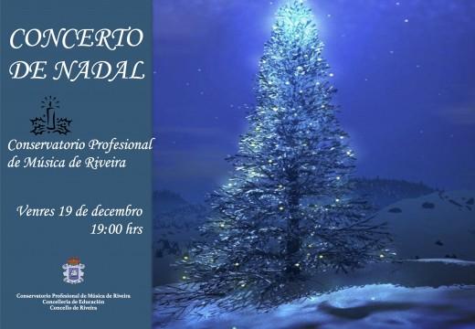 Concertos de Nadal, hoxe e mañá no Conservatorio Municipal de Riveira