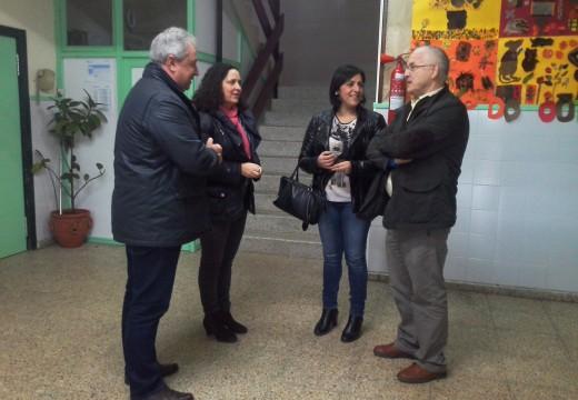 Educación inicia hoxe os traballos de mellora da instalación eléctrica do Colexio de Educación Infantil e Primaria Eugenio López, no concello de Cee