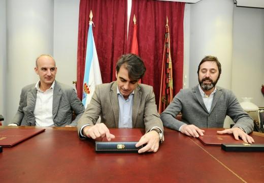 A Deputación financia a mellora da seguridade viaria na rúa Monolito, situada entre os concellos de Curtis e Vilasantar