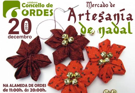 Ordes acollerá o vindeiro sábado o seu mercado de artesanía de Nadal