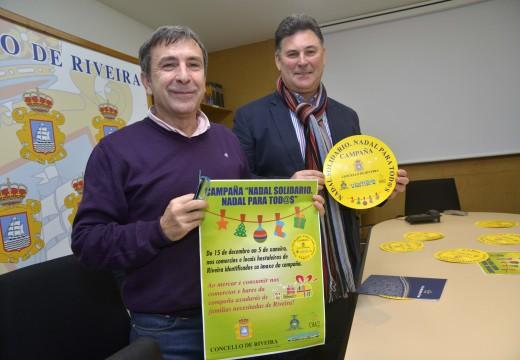 Empresarios e concello de Riveira alíanse no lanzamento dunha Campaña Solidaria para que ningún veciño se quede sen Nadal