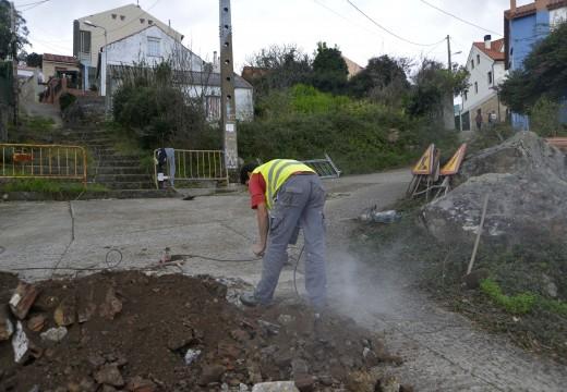 Arrancan as obras de pavimentación e renovación de servizos na rúa dos Remedios