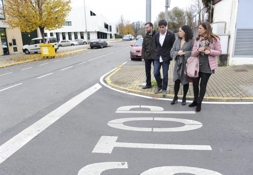Economía e Industria inviste no concello de Oleiros preto de 117.000 euros na mellora do Polígono Empresarial de Icaria
