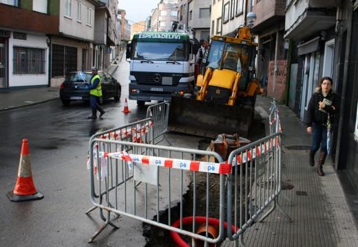 Arranca o segundo tramo das obras na rede de saneamento da rúa O Recreo