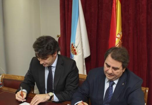 Concello e Deputación asinan un convenio para colaborar na celebración da Copa do Rei de Baloncesto de 2016 na Coruña