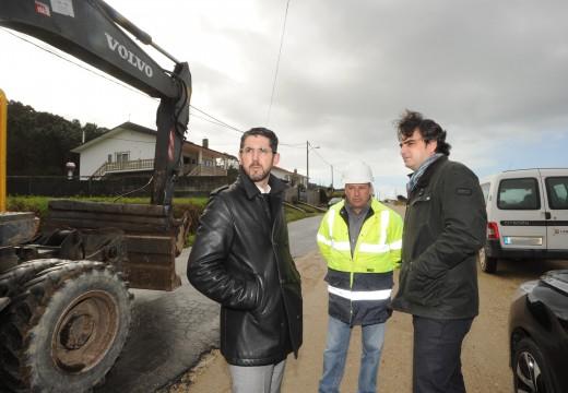 A Deputación da Coruña inviste preto dun millón de euros na ampliación da estrada DP-7103 de Laranga A Olveira, en Porto do Son