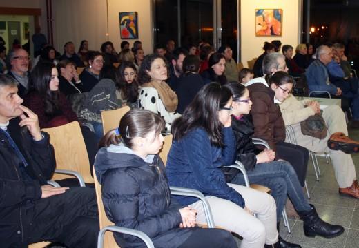 Preto dun cento de persoas acudiron ao concerto do profesorado da Aula de Música de Oroso
