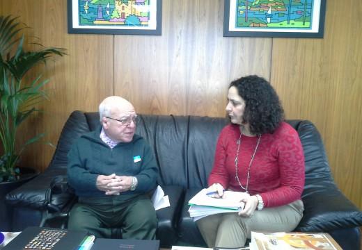 Belén do Campo reuniuse co representante da Unidade Provincial de Parapléxicos da Coruña para coñecer as necesidades do colectivo