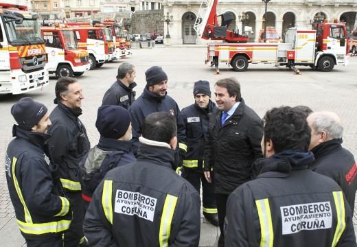 Negreira destaca o investimento realizado para converter o parque de bombeiros da Coruña nun dos máis modernos de España