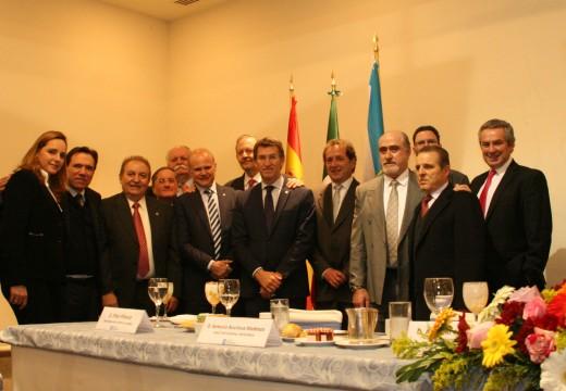 Feijóo adianta que a xunta destinará 2 millóns de euros para que expertos en mercados internacionais consigan novos proxectos de investimento en Galicia