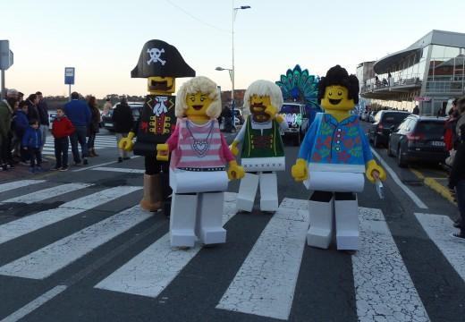 Gañadores do concurso de disfraces na Pobra do Caramiñal.