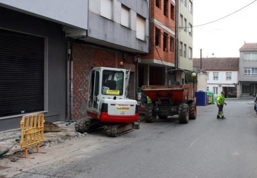 Arranca a construción das novas beirarrúas da rúa Campeiras