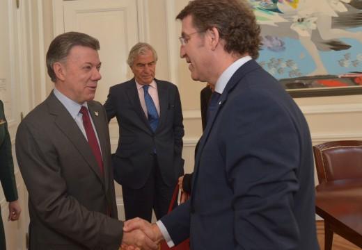 Feijóo constata o interese do presidente de Colombia nas capacidades do naval, da automoción e da aplicación das tic na sanidade e na educación galega