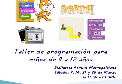 O Fórum Metropolitano organiza un taller infantil sobre programación informática