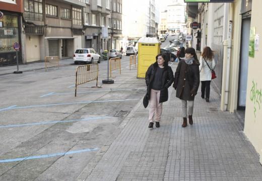 O Concello inicia os traballos de remodelación de beirarrúas na rúa Pérez Cepeda
