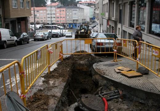 Empezan as obras no sistema de pluviais da rúa Canteira
