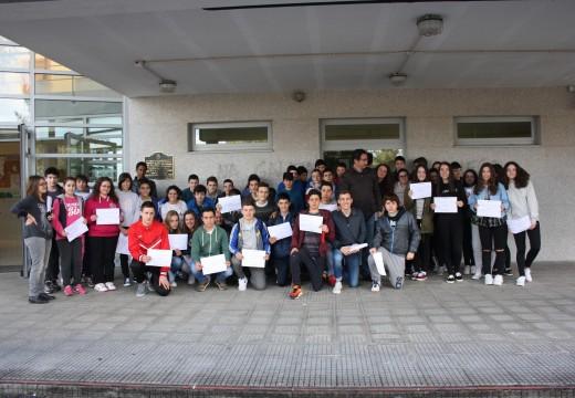 Un total de 52 alumnos e alumnas do IES Oroso reciben os seus diplomas de participación nun obradoiro de introdución ao coaching