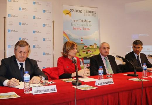Turismo de Galicia presenta en Madrid a nova edición de 'Galicia a todo tren' que incorpora como principal novidade o tren peregrino