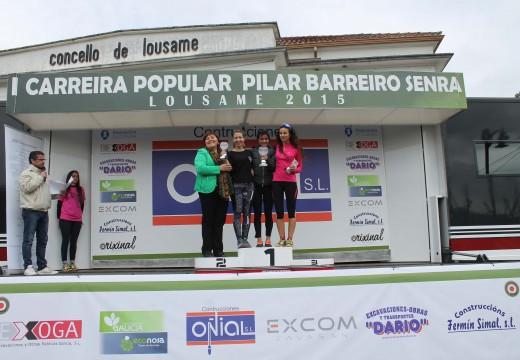 Víctor Riobó e María Jesús Gestido, gañadores da I Carreira Popular Pilar Barreiro Senra
