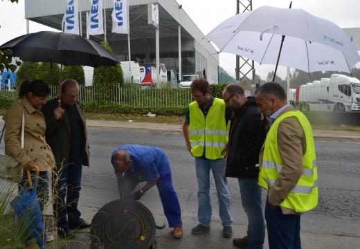 Cambre inspecciona conxuntamente con Sada o sistema  de saneamento do Polígono Industrial de Espírito Santo