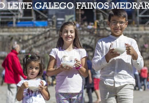 Tres rapaces do concello de Ordes lanzan unha campaña de apoio ao sector lácteo