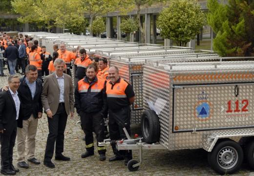 A Xunta fai entrega de 41 remolques de emerxencias para Agrupacións de Protección Civil das catro provincias galegas