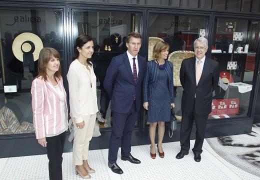 O presidente da Xunta visitou hoxe 'Expomilán 2015', coincidindo coa celebración do Día de Honra de Galicia no pavillón de España
