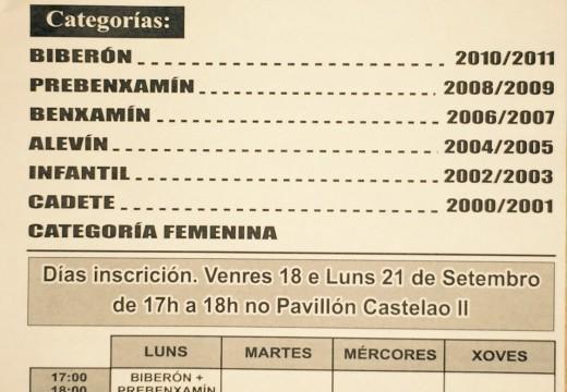 O venres e o luns estará aberta a inscrición para apuntarse nas Escolas Deportivas Municipais de Fútbol Sala
