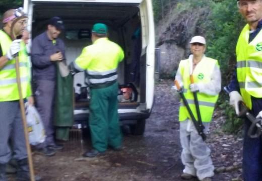 A concellería de Medio Ambiente de Fene acomete a limpeza das beiras do río Belelle