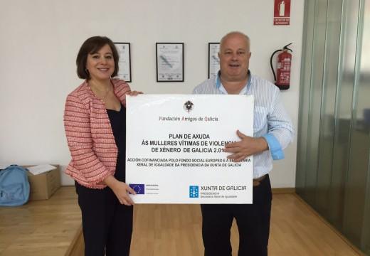 A Xunta e a Fundación Amigos de Galicia colaboran na atención de mulleres que sofren violencia de xénero