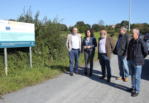 A Xunta de Galicia inviste máis de 270.000 euros na mellora dunha decena de camiños rurais e na pavimentación dos accesos ao polígono industrial do concello da Laracha