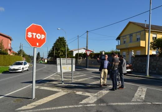 O goberno local estuda con técnicos da Deputación actuacións para mellorar a seguridade viaria