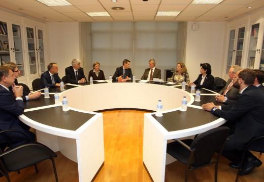 A Xunta mantén unha xuntanza cos representantes do consello galego de Economistas e Titulados Mercantís