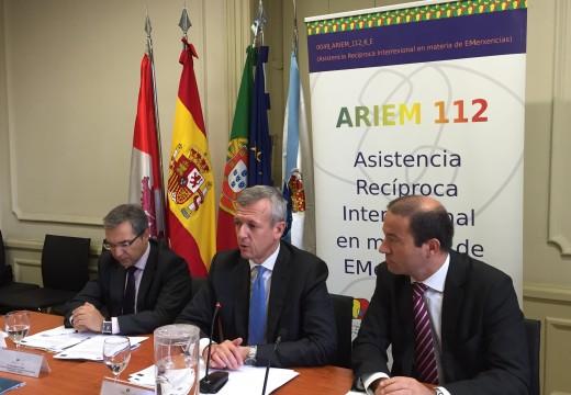 A Xunta pretende ampliar o proxecto ARIEM 112 que consolida unha cooperación transfronteiriza rápida e éficaz entre Galicia e Norte de Portugal
