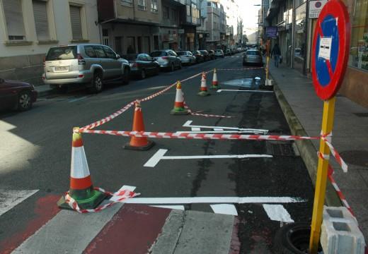 Habilitados dous aparcamentos para motocicletas na rúa Rosalía de Castro