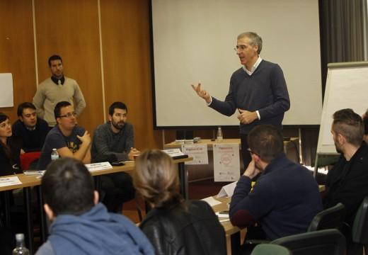 Conde salienta o potencial dos 20 proxectos que se están formando na aceleradora de emprendemento Vía Lugo para xerar riqueza e emprego en Galicia