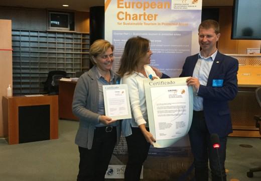 Mato recibe en Bruxelas a Carta Europea de Turismo Sostible outorgada ao Parque Nacional das Illas Atlánticas